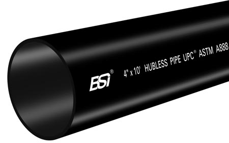 ASTM A888/CISPI301/CSA Hubless Cast Iron Soil Pipe
