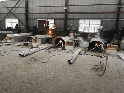 Pipes casting process